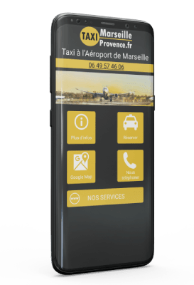 Application Android taxi aéroport Marseille